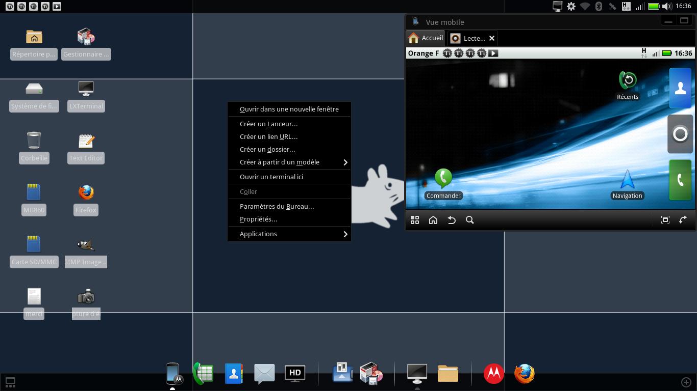 tutoriel full ubuntu en webtop mode bureau icones et raccourcis motorola motorola. Black Bedroom Furniture Sets. Home Design Ideas
