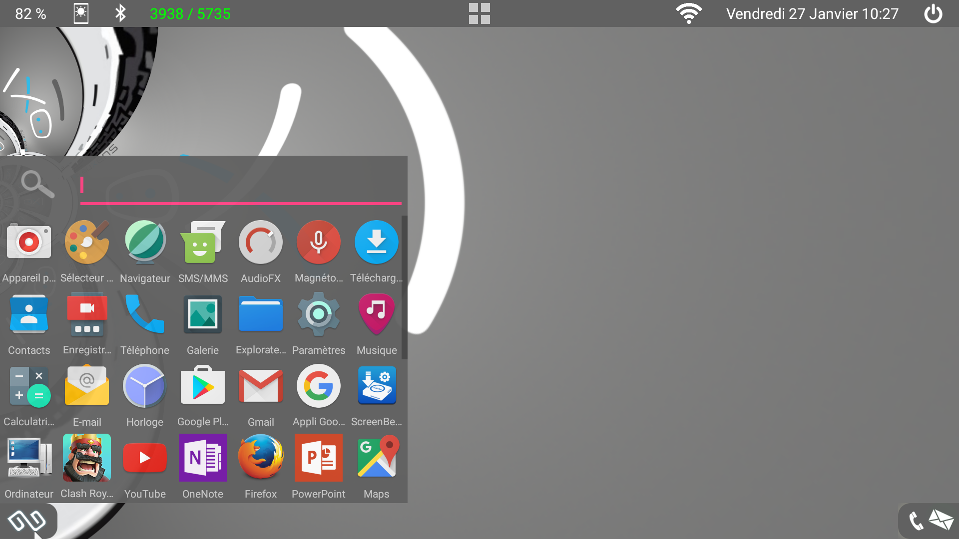 Alpha oxi et le smartphone devint pc avec du nougat for Application miroir pc