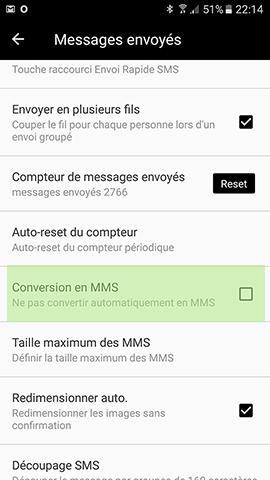 nombre caractère sms